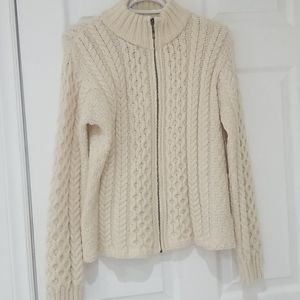Inis crafts 100% merino wool cable knit sweater